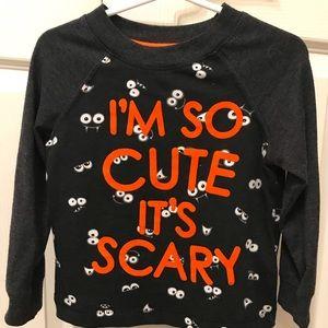 Size 2T Halloween Long Sleeve Scary T-Shirt Unisex